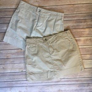 Pair of GAP Favorite Khaki Mini Skirt